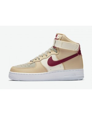 Nike Air Force 1 High Blanche/Rouge-Pale Ivory-Blanche 334031-200