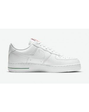 """Nike Air Force 1 Low """"Rose"""" Blanche/Rouge-Vert CU6312-100"""