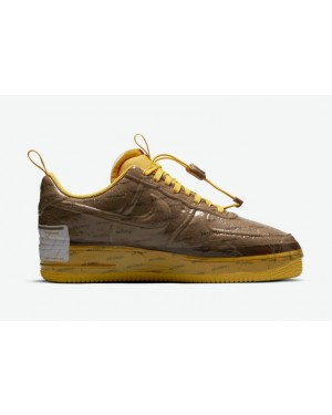 """Nike Air Force 1 Low Experimental """"Marron"""" Marron/Or-Blanche CZ1528-200"""