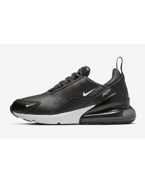 Nike Air Max 270 PRM LEA Leather Noir Blanche Homme BQ6171-001