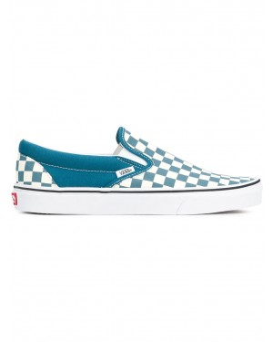 "Vans - Femme ""Checkerboard"" Slip-On Corsair Bleu/Blanche VN0A38F7U78"