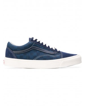 Vans Checked Lace-up Sneakers VA36C8U9 Bleu