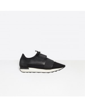 Balenciaga Homme Race Runners Multimaterial Contrasted Runners Noir 483492W0YX61000