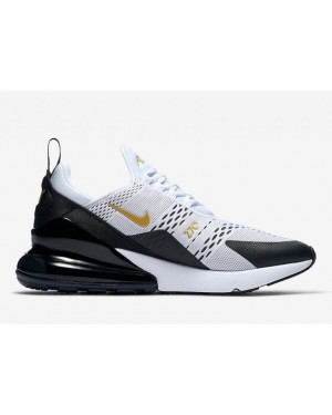 Nike AV7892-100 Air Max 270 Homme Fonctionnement Chaussure Blanche/Noir/Or