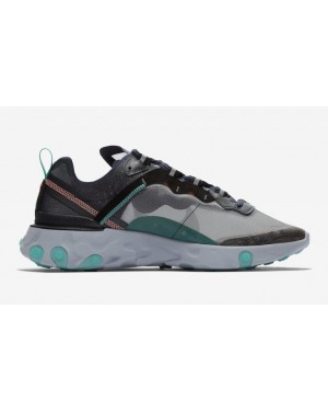 Nike React Element 87 Noir Vert Bright Mango AQ1090-005