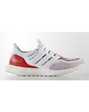 Adidas Ultra Boost - Homme - Fonctionnement - Chaussures - Blanche/Rouge BB3911