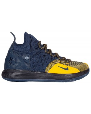 Nike KD 11 Michigan Bleu Or AO2604-400