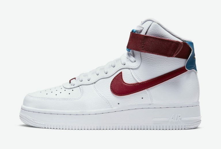 """Nike Air Force 1 High """"Rouge"""" Blanche/Rouge-Vert 334031-119"""