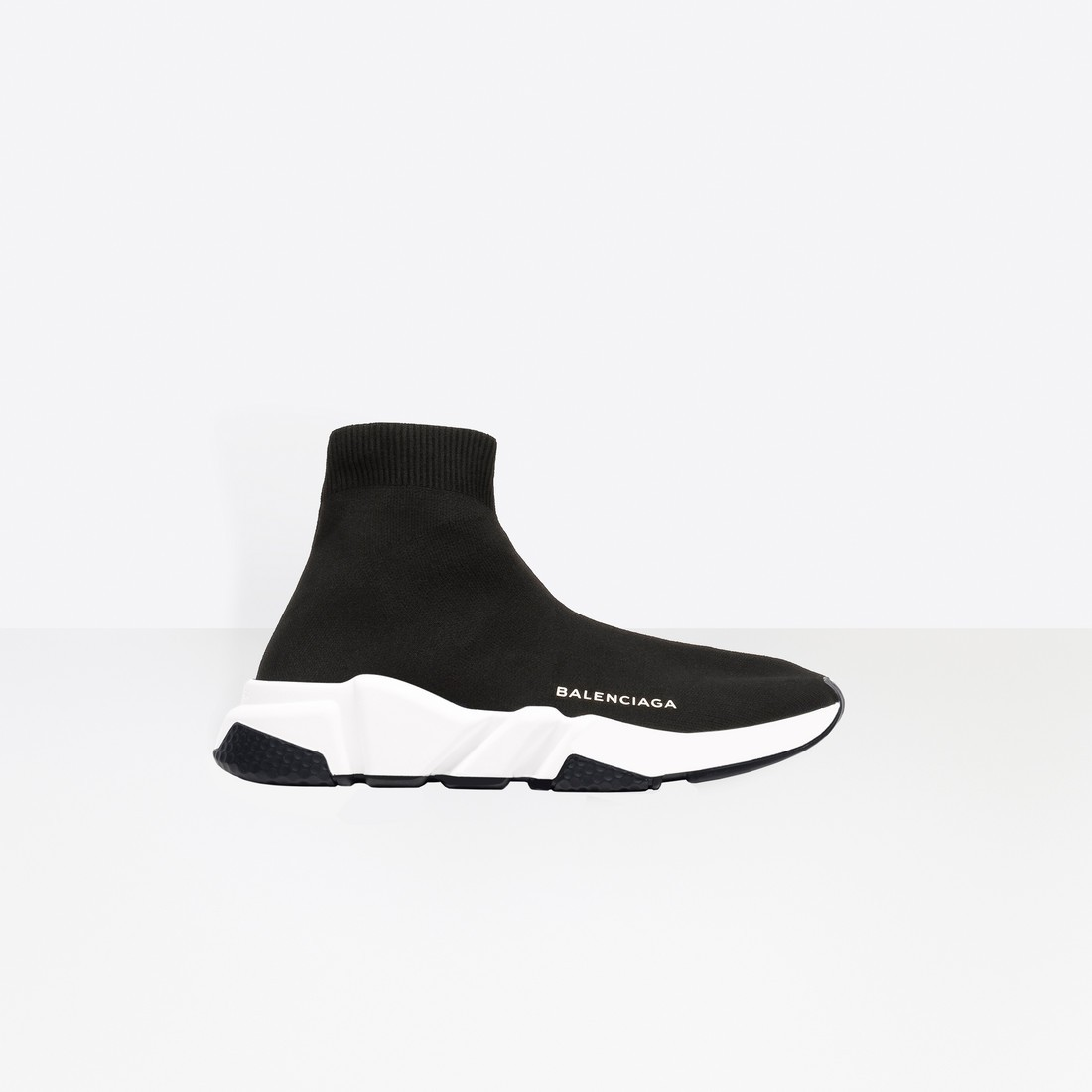 Balenciaga Femme Speed Trainers with Blanche and Noir textured sole Noir 477289W05G01000