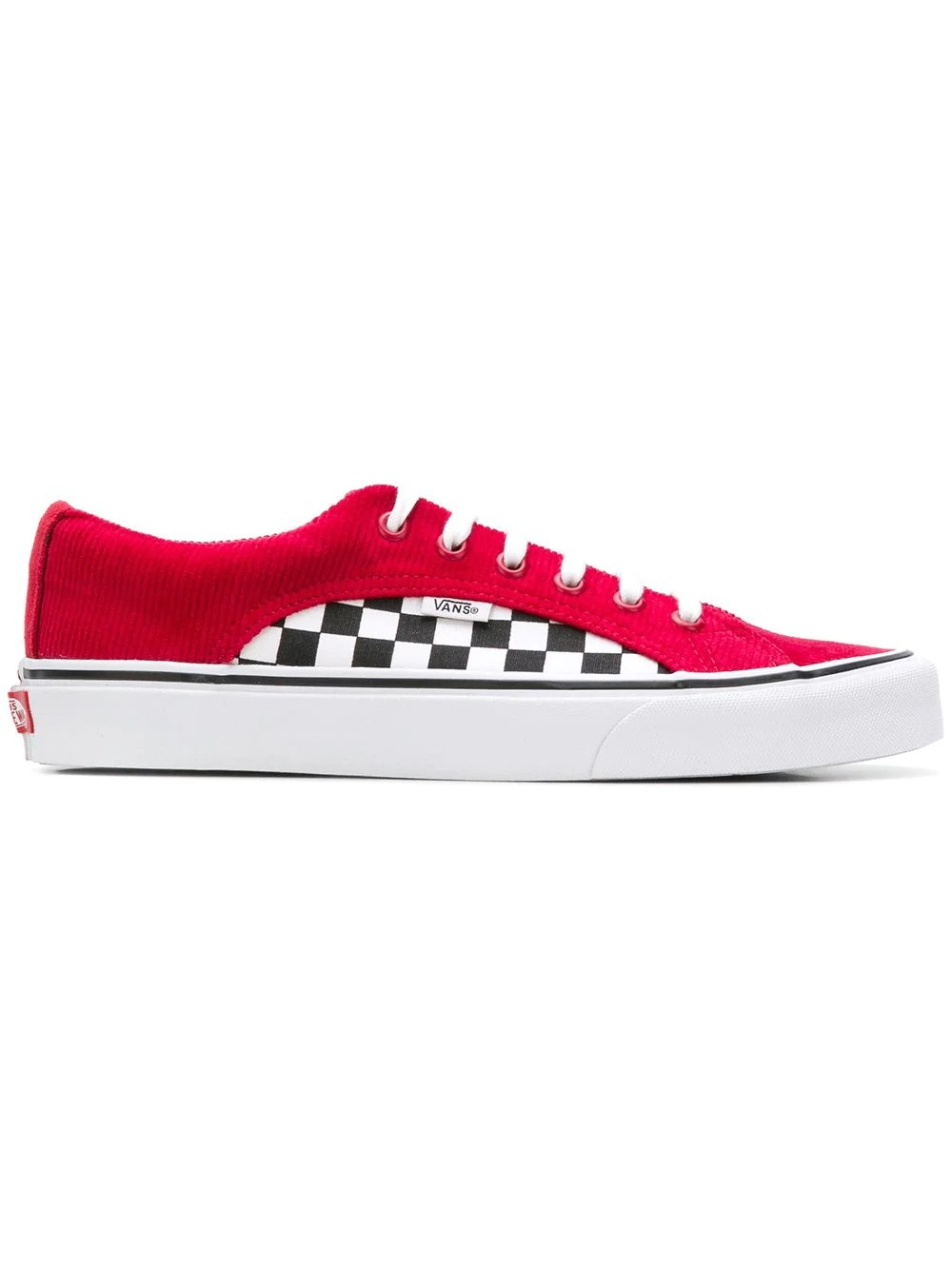 Vans UA Lampin Checker Cord Scooter Blanche/Rouge VN0A38FIU9E1