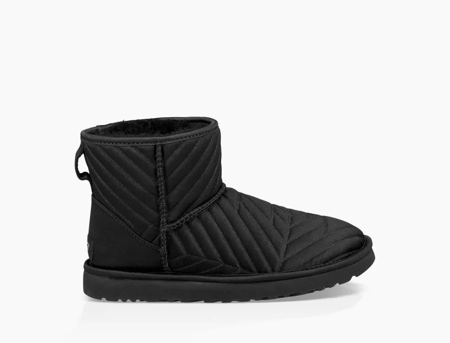 Femme Classic Mini Quilted Satin Boot Noir 1098351