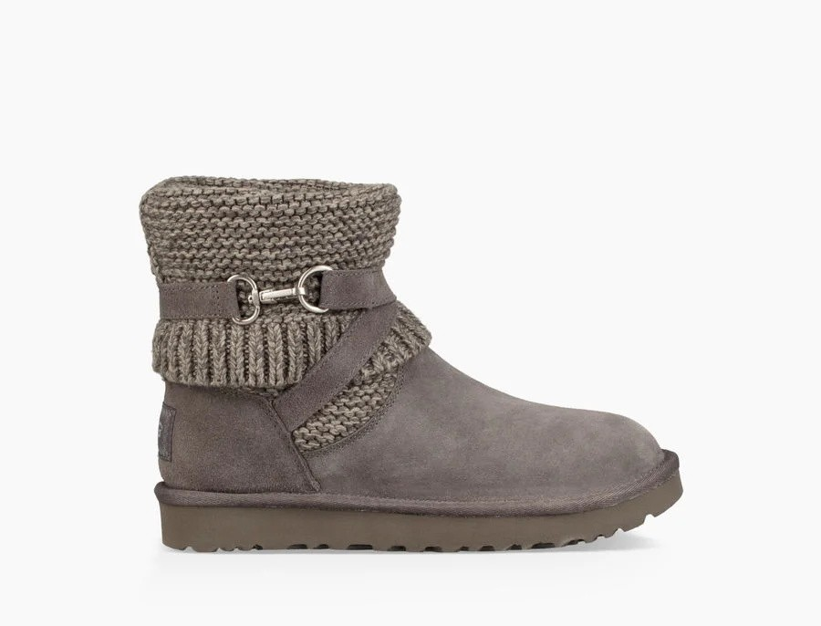Femme Purl Strap Boot Gris 1098080