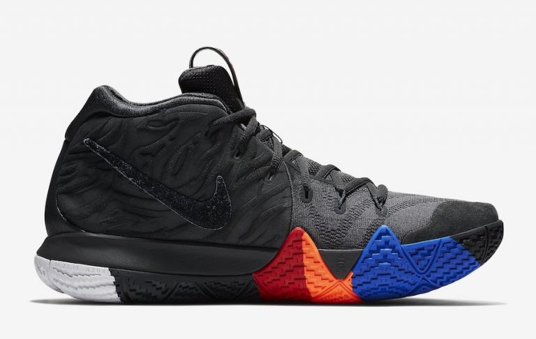 Nike Kyrie 4 Year of The Monkey Homme 943806-011 Noir Gris