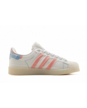 Adidas Superstar Futureshell Blanche/Rouge-Bleu FX5544