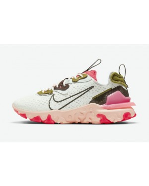 """Nike React Vision """"Sired Rouge"""" Blanche/Rouge-Desert Moss-Ironstone CI7523-102"""