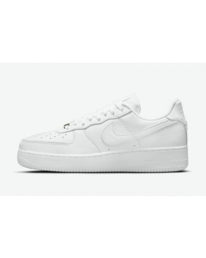 """Nike Air Force 1 Craft """"Blanche Croc"""" Blanche/Blanche-Blanche CU4865-100"""