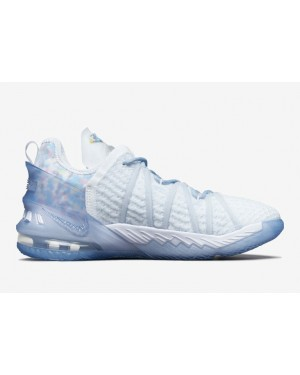 """Nike LeBron 18 """"Play for the Future"""" Bleu/Clear-Blanche CW3156-400"""