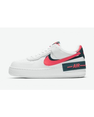 """Nike Air Force 1 Shadow """"Rouge"""" Blanche/Rouge/Vert DB3902-100"""