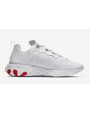Nike React Element 55 Blanche Rouge BQ6167-102