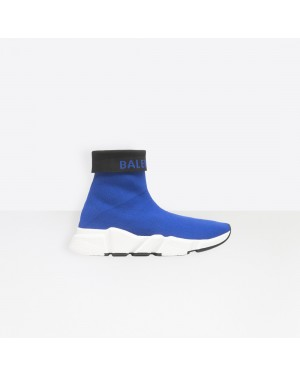 Balenciaga Femme Speed Trainers with textured sole Bleu 525725W1GV04121