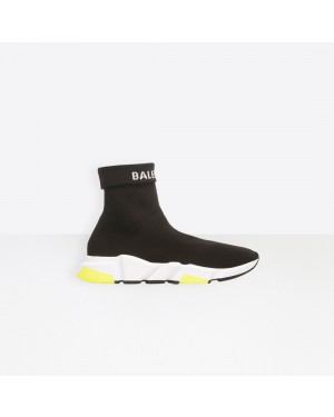 Balenciaga Femme Speed Trainers with tricolor sole Noir 525725W1GV01006