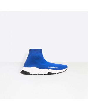 Balenciaga Femme Speed Trainers with Blanche and Noir textured sole Bleu 525712W05G04120
