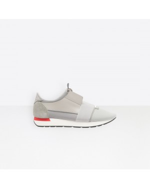 Balenciaga Homme Race Runners Multimaterial Contrasted Runners Gris 490981W05G31214