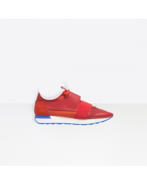 Balenciaga Homme Race Runners Multimaterial Contrasted Runners Rouge 506328W0YXS6501