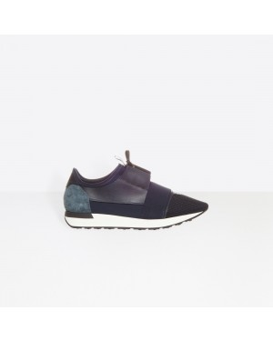 Balenciaga Homme Race Runners Multimaterial Contrasted Runners Bleu 483490W0YX64100