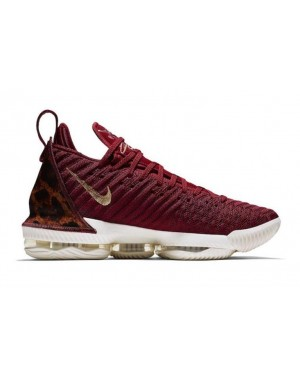 "Nike LeBron 16 ""King"" Rouge/Métallique Or-Multi Color AO2588-601"