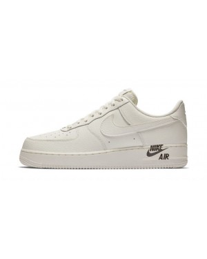 "Nike Air Force 1 07 lv8 low ""Emblem"" Leather Bone/Bone AJ7280-102"