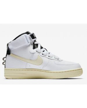 Nike Air Force 1 High Utility Blanche Light Cream Femme - AJ7311-100