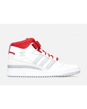 Adidas Forum Mid Blanche/Gris-Rouge FY6819